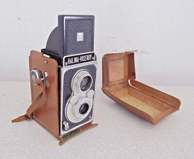 Vintage Halina Viceroy TLR Twin Lens Reflex Camera F'8 Hawkings Used Retro