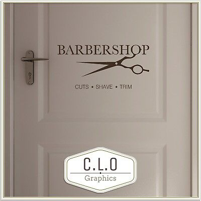 Barber Shop Wall Sticker Vinyl Decor Door Sign Graphic Decal Window Art Transfer