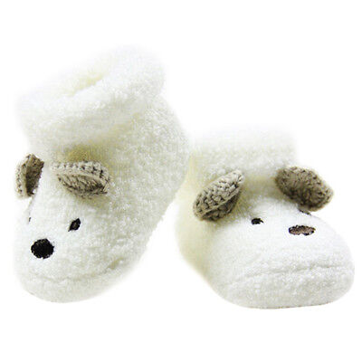 Warm Newborn Socks Unisex Baby Boy Girls Infant Cute Bear Crib Warm Shoes K4C6