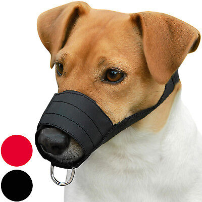 Nylon Dog Muzzle Jack Russell Terrier Cocker Spaniel Poodle Secure Adjustable