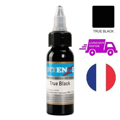 Tattoo Ink Intenze True Black 30mL Encre de Tatouage Noir 1 Oz