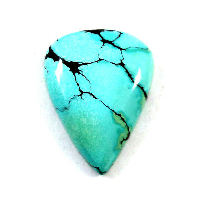 Good Quality  Natural TURQUOISE Pear Cabochon 25x34mm 34.8ct Loose Gemstone