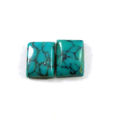 Fine Quality Natural TURQUOISE Rectangle 6x8 MM 2ct Cabochon Loose Gemstone