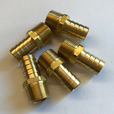 1//2 Male NPT x 3//4 Inch Hose Barb #25 Brass Adaptor Fitting Mendor