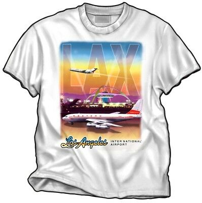 Lax - Los Angeles International Airport - T-Shirt - Airlines - New - L - Large