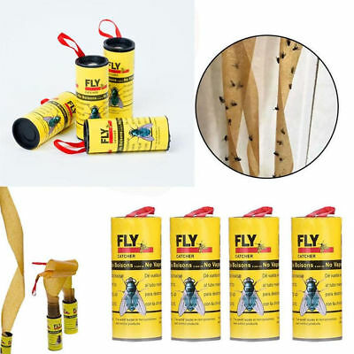 8 Fly Insect Catcher Killer Tape Strip Pest Bug Wasp Window Fly Poison Free OTL