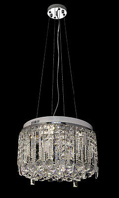 LED Chandelier Crystal Glass Droplets Drop French Antique Ceiling Pendant light