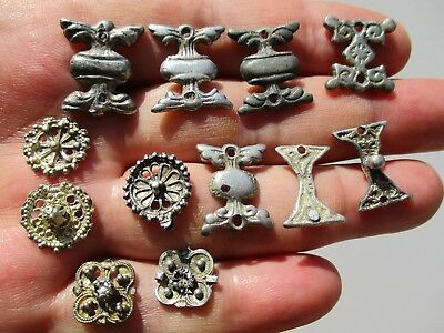lot of ancient Byzantine - Middle Ages silver decorations, some are gilt