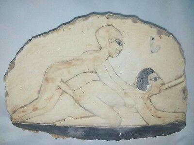 Replica Rare Antique Ancient Egyptian stela group sex BC