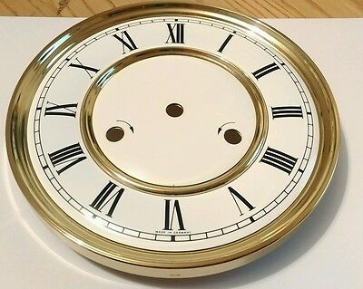 Roman Dial & Brass Clock Bezel 180mm German Made Quality