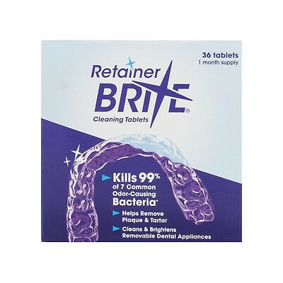 Retainer Brite Cleaning Tablets 36 Tablets for 1 month supply