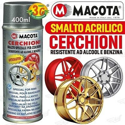 Macota Smalto Speciale Cerchioni Vernice Spray 400 ML Acrilico Oro Metallizzato