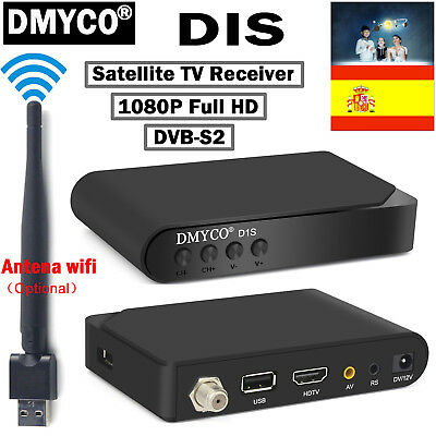 España D1S DVB-S2 Digital Satellite Receiver TV Decoder USB Wifi Antena 1080P HD