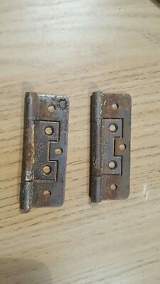 Pair of vintage cupboard hinges 2 1/2""