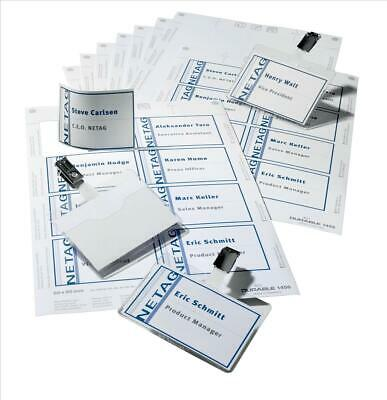 DURABLE (60mm x 90mm) Name Badges Set with Clip