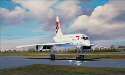 Anniversary Flight formation of 4 BA Concorde aircraft print signed by Pilot