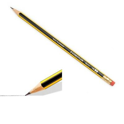 10 Pack STAEDTLER Noris HB Pencil with Eraser Tip Double Stacked School Office