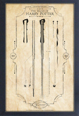 HARRY POTTER WAND OF HARRY 13x19 FRAMED GELCOAT POSTER MOVIE GIFT FUN NEW MAGIC!