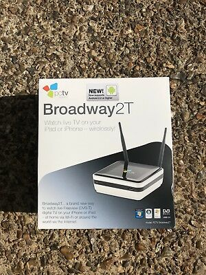 New PCTV Broadway2T Stream TV To Your iPhone/iPads Dual DVBT WiFi-N