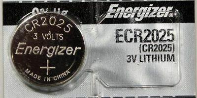 10PC Energizer CR2025 ECR2025 Coin Cell Battery 3V Lithium