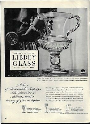 1946 Blown Glass Loving Cup Made 1833 Photo Libbey Glass Print Ad