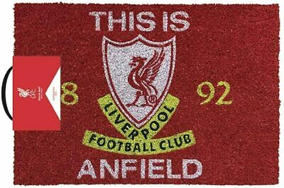 Liverpool FC Football Club Welcome Front Door Mat Liver Bird Est 1892 Coir Black