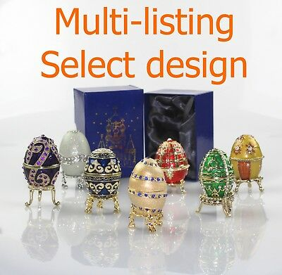 *Atlas Editions Fabergé style collector eggs trinket box, boxed - select design*