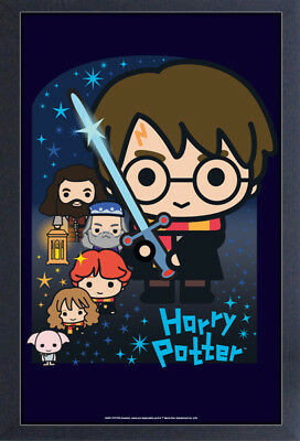 HARRY POTTER KAWAII 13x19 FRAMED GELCOAT POSTER MOVIE GIFT MAGIC NEW HOGWARTS!!