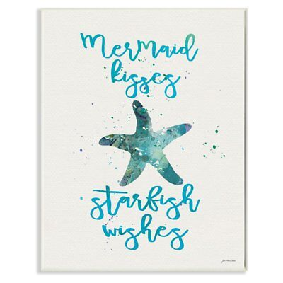 The Stupell Home Decor Collection Mermaid Kisses Starfish Wishes Wall Plaque Art