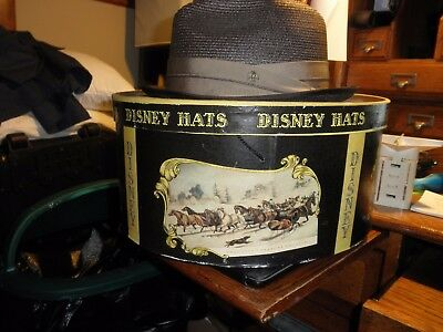 Vintage Disney Hat Box With Vintage Disney Eagle Fedora Hat