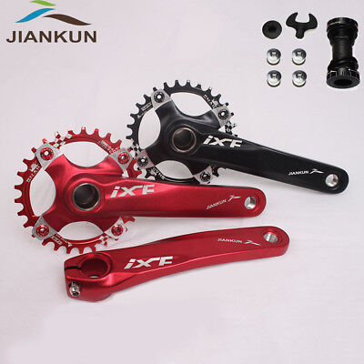 IXF 104BCD 30T MTB Bike Crankset 170mm Crank Narrow Wide Round Chainring BB
