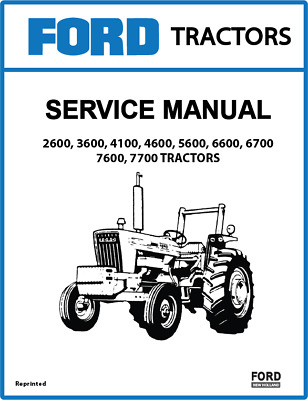 FORD NEW HOLLAND 2600-7700 Service Manual 3 Volumes PRINT version New Holland Ford Sel Tractor Wiring Diagrams on