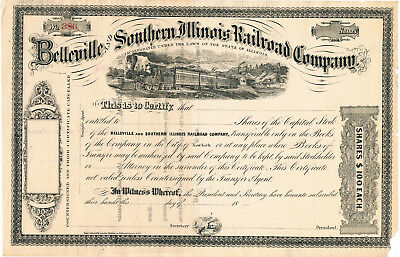 Belleville & Southern Illinois Rail Road Company Stock Certificate