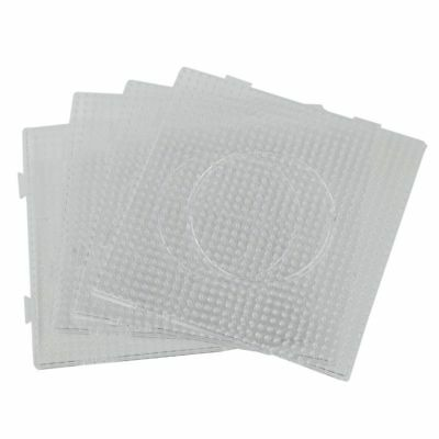 4x ABC Clear 145x145mm Square Large Pegboards Board for Hama Fuse Perler Be Q2F8
