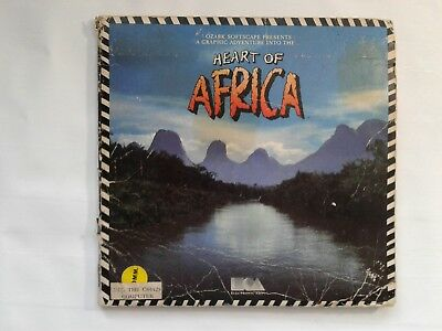 Heart Of Africa For Commodore 64/128 with folder, map, and manual