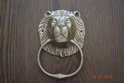 Vintage Brass Lion Head Door Knocker- Pre owned