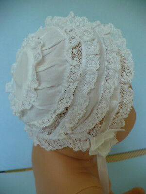 Vintage All Lace Handmade Heirloom Child Or Doll Bonnet
