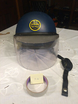 United States Border Patrol Riot Helmet with Face Shield