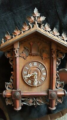 Antique Cuckoo clock   Bahnhausle circa 1900 by Gordian Hett for restoration