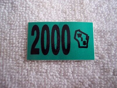2000 Wisconsin Automobile License Decal Sticker in original package NEW OLD
