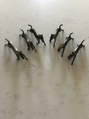 Silverplate Running Horse Knife Rests Race Fox Hunt Set of 6