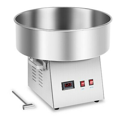 Candy Floss Machine LED Voltmeter 230V Cotton Candy Maker 1030W Stainless Steel