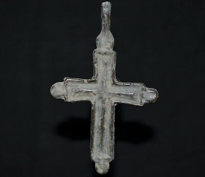 Ancient Viking Bronze Cross. Stunning Norse Amulet Pendant, c 950-1000 AD. Mint