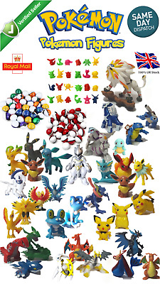 Pokemon Figures toys Go Pokeball Pikachu Kids Charizard Greninja Eevee Pichu UK