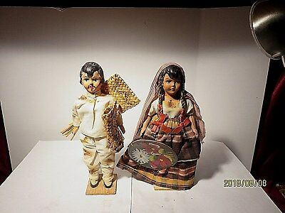 Vintage Mexican Doll Couple