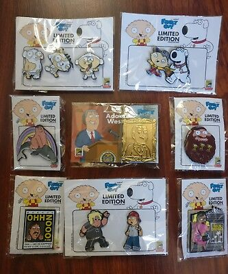 SDCC 2018 Toddland Exclusive Family Guy COMPLETE Pin Set Limited Edition 100-650