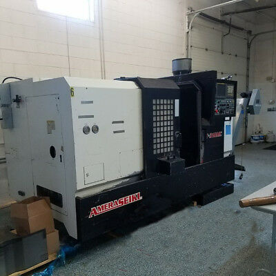 "Used Amera Seiki T-310MC CNC Live Tool Turning Center Lathe 12"" Chuck Fanuc '04"