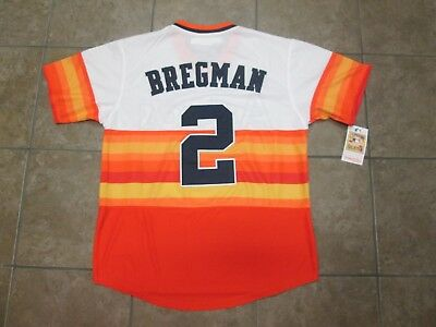 ... promo code cool base mlb houston astros 2 bregman stitch rainbow orange  jersey men m nwt c106f556f