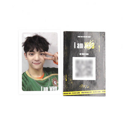 [Stray Kids]I am WHO Official QR Photocard/ WHITE/Selfie - WOOJIN