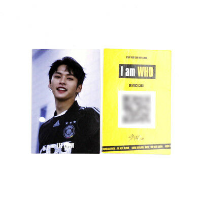 [Stray Kids]2nd mini album I am WHO Official QR Photocard/BEHIND ver./LEEKNOW